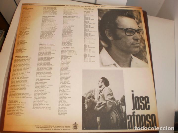 Discos de vinilo: lp josé afonso cantigas do maio. hispavox 1974 spain encarte (tiene grandola vila morena, seminuevo) - Foto 3 - 161708306