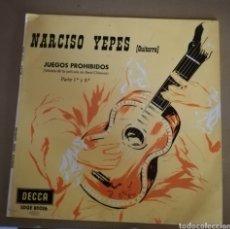 Discos de vinilo: NARCISO YEPES - JUEGOS PROHIBIDOS. Lote 161731225