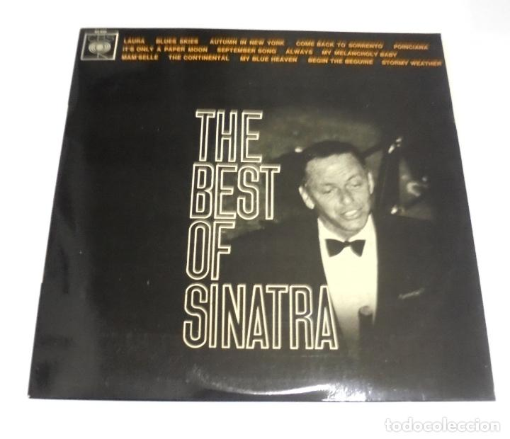 LP. THE BEST OF SINATRA. LAURA / BLUES SKIES. CBS (Música - Discos - LP Vinilo - Cantautores Extranjeros)