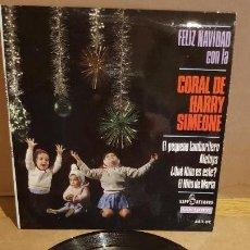 Discos de vinilo: FELIZ NAVIDAD CON LA CORAL DE HARRY SIMEONE / EP - KAPP RECORDS-1966 / MBC. ***/***. Lote 161772566