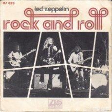 Discos de vinilo: SINGLE LED ZEPPELIN ROCK AND ROLL . Lote 161773534