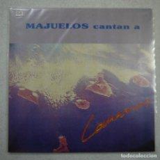Discos de vinilo: MAJUELOS CANTAN A CANARIAS - DOBLE LP 1989 . Lote 161790310