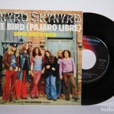 Discos de vinilo: DISCO SINGLE DE VINILO - LYNYRD SKYNYRD / FREE BIRD - MCA - 1975. Lote 161795722