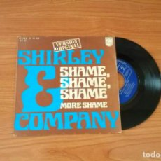 Discos de vinilo: SINGLE - SHIRLEY & COMPANY - SHAME, SHAME, SHAME - YEAR 1975 - EDITION SPANISH. Lote 161804902