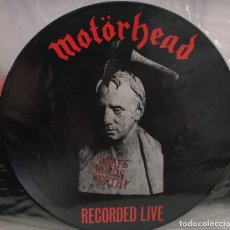 Discos de vinilo: MOTORHEAD - WHAT¨S WORDS WORTH ? - RECORDED LIVE - PORTADAS GRABADAS EN EL VINILO - ASTAN - 1984. Lote 161816950