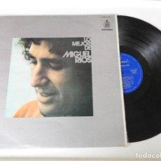 Discos de vinilo: LP LO MEJOR DE MIGUEL RIOS. Lote 161824002