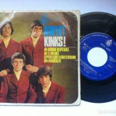 Discos de vinilo: THE KINKS - KWYET KINKS! - UN HOMBRE RESPETABLE - EP 1965 - HISPAVOX. Lote 161832126