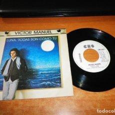 Discos de vinilo: VICTOR MANUEL LUNA / TODAS SON COMO TU SINGLE VINILO PROMO DEL AÑO 1980 CONTIENE 2 TEMAS. Lote 161832438