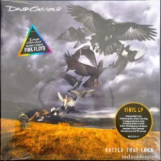 Discos de vinilo: DAVID GILMOUR RATTLE THAT LOCK LP + LIBRO NUEVO PRECINTADO PINK FLOYD. Lote 161852686