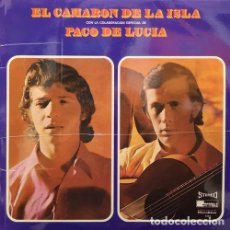 Discos de vinilo: EL CAMARON DE LA ISLA CON PACO DE LUCIA - LP RARO DE VINILO PARA DISCOLIBRO. Lote 161857590