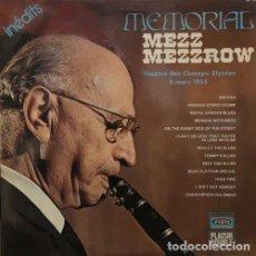 Disques de vinyle: MEZZ MEZZROW - MEMORIAL - DOBLE LP DE VINILO EDICION FRANCESA - JAZZ. Lote 161857670