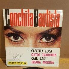 Discos de vinilo: CONCHITA BAUTISTA / CABECITA LOCA / EP - BELTER-1965 / MBC. ***/***. Lote 161864606