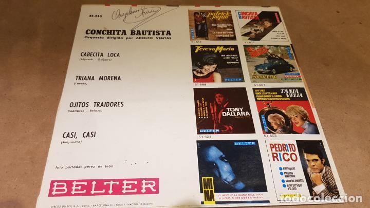 Discos de vinilo: CONCHITA BAUTISTA / CABECITA LOCA / EP - BELTER-1965 / MBC. ***/*** - Foto 2 - 161864606