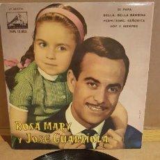 Discos de vinilo: ROSA MARY Y JOSÉ GUARDIOLA / DI PAPA / EP - LA VOZ DE SU AMO-1962 / MBC. ***/***. Lote 161865170