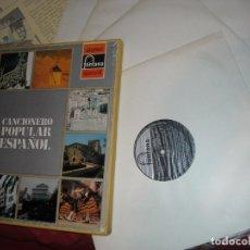 Discos de vinilo: CANCIONERO POPULAR ESPAÑOL - VARIOS CAJA 4 LP MAS LIBRETO SPAIN, 1972). Lote 161892398