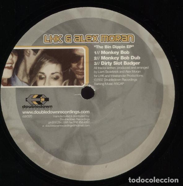 LHK & ALEX MORAN / THE BIN DIPPIN EP / DOUBLEDOWN RECORDINGS / VINYL, 12 EP, 45- 33 RPM / 2002 (Música - Discos de Vinilo - EPs - Techno, Trance y House)