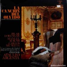 Discos de vinilo: LA CANCIÓN DEL OLVIDO. PILAR LORENGAR. MANUEL AUSENSI. LP. Lote 161900722