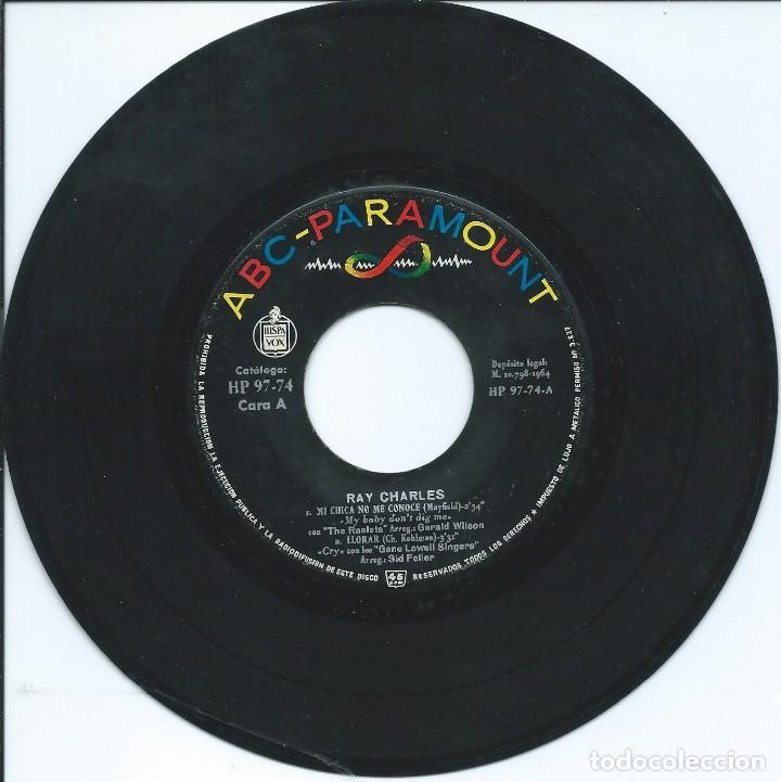 RAY CHARLES, MI CHICA NO ME CONOCE. ABC,1964. -SIN PORTADA- (Música - Discos de Vinilo - EPs - Jazz, Jazz-Rock, Blues y R&B)