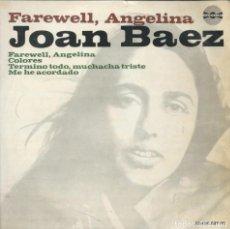 Disques de vinyle: JOAN BAEZ, FAREWELL ANGELINA +3 VANGUARD,1965.. Lote 161914398