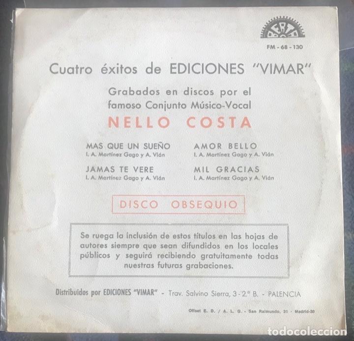 "Discos de vinilo: Nello Costa ""jamás te veré"" muy raro ep berta 1969 spanish temazo soul pop nelo - Foto 2 - 161919910"