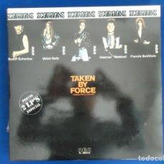 Discos de vinilo: LP DISCO MUSICA ROCK & ROLL CANCION GUITARRA SCORPIONS TAKEN BY FORCE VIRGIN KILLER HEAVY METAL. Lote 161921002
