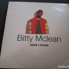 Discos de vinilo: BITTY MCLEAN --- HERE I STAND. Lote 161980434
