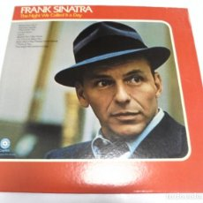 Discos de vinilo: LP. FRANK SINATRA. THE NIGHT WE CALLED IT A DAY. CAPITOL. Lote 161984302