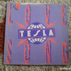 Disques de vinyle: MAXI 12 PULGADAS. TESLA. LOVE SONG. AÑO 1989.. Lote 161989074