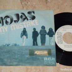 Discos de vinilo: HOJAS - MY MISTAKE MI CULPA (RCA 1972) SINGLE PROMOCIONAL ESPAÑA. Lote 161989258