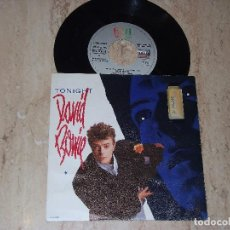 Discos de vinilo: DAVID BOWIE-TONIGHT / TUMBLE AND TWIRL / SINGLE PROMOCIONAL EDITADO POR EMI EN 1984. Lote 161994802