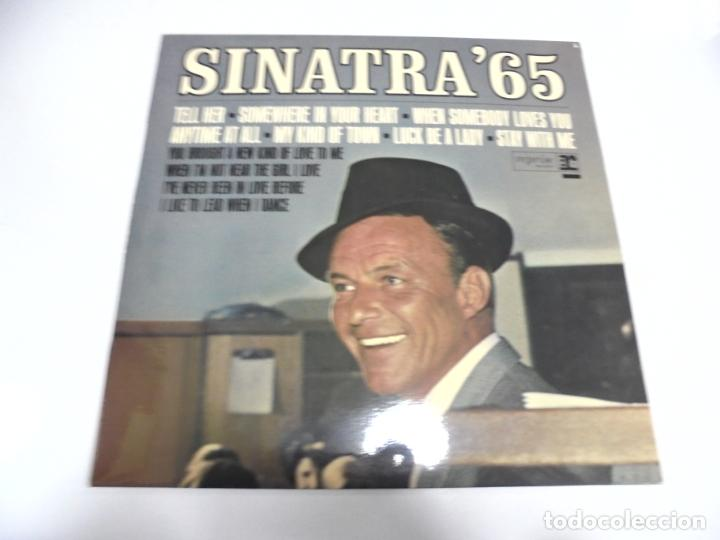 LP. FRANK SINATRA. SINATRA65. TELL HER / WHEN SOMEBODY LOVES YOU. DISQUES VOGUE (Música - Discos - LP Vinilo - Cantautores Extranjeros)
