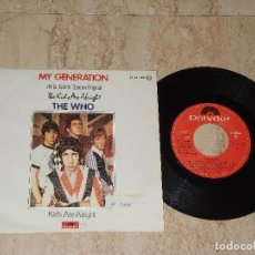 Discos de vinilo: THE WHO - MY GENERATION / KIDS ARE ALRIGHT - SPAIN - POLYDOR 1979. Lote 175439504