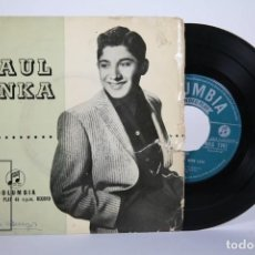 Discos de vinilo: DISCO EP DE VINILO - PAUL ANKA / DIANA, I LOVE YOU, BABY... - COLUMBIA - AÑO 1957. Lote 162006078