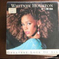 Discos de vinilo: WHITNEY HOUSTON - GREATEST LOVE OF ALL - SINGLE ARISTA 1986 . Lote 162006402