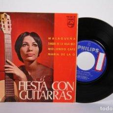 Discos de vinilo: DISCO EP DE VINILO - FIESTA CON GUITARRAS / PACO DE LUCIA, RICARDO MODREGO - PHILIPS - AÑO 1965. Lote 162007086