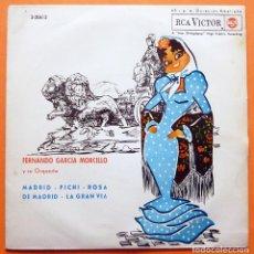 Discos de vinilo: FERNANDO GARCÍA MORCILLO Y SU ORQ. - MADRID / PICHI / ROSA DE MADRID / LA GRAN VIA - EP - RCA - 1963. Lote 162015422