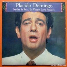 Discos de vinilo: PLACIDO DOMINGO - NOCHE DE PAZ - SINGLE - DISCOS CBS - 1981 - EXCELENTE (EX / EX). Lote 162016498