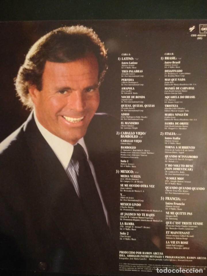 Discos de vinilo: JULIO IGLESIAS LP Raices - Foto 2 - 162017866
