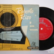 Discos de vinilo: DISCO EP DE VINILO - ROBERTO RIZO Y SUS VOCES / OJOS NEGROS, TABÚ, EL MANISERO.... - ORPHEO. Lote 162018082