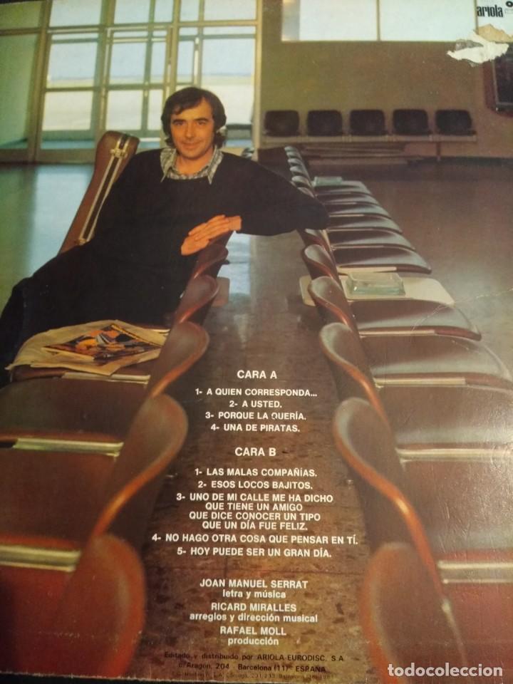 Discos de vinilo: SERRAT LP En tránsito - Foto 2 - 162018226