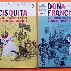 Discos de vinilo: DOÑA FRANCISQUITA VOLS. I-II - ALFREDO KRAUS, DOLORES PÉREZ - EP - MONTILLA-ZAFIRO - 1959-1963. Lote 162036010