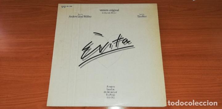 LP - ANDREW LLOYD WEBBER - EVITA - YEAR 1977 - EDITION SPANISH - 2 LP (Música - Discos - LP Vinilo - Bandas Sonoras y Música de Actores )