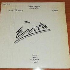 Discos de vinilo: LP - ANDREW LLOYD WEBBER - EVITA - YEAR 1977 - EDITION SPANISH - 2 LP. Lote 162036046