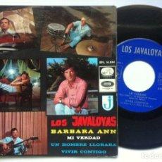 Discos de vinilo: LOS JAVALOYAS - BARBARA ANN - EP 1966 - LA VOZ DE SU AMO. Lote 162038074
