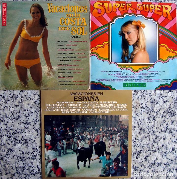 SU PER SUPER + VACACIONES COSTA DEL SOL + VACACIONES EN ESPAÑA. (Música - Discos - LP Vinilo - Solistas Españoles de los 50 y 60)