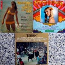 Discos de vinilo: SU PER SUPER + VACACIONES COSTA DEL SOL + VACACIONES EN ESPAÑA.. Lote 162069134