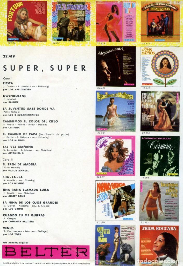Discos de vinilo: SU PER SUPER + VACACIONES COSTA DEL SOL + VACACIONES EN ESPAÑA. - Foto 2 - 162069134