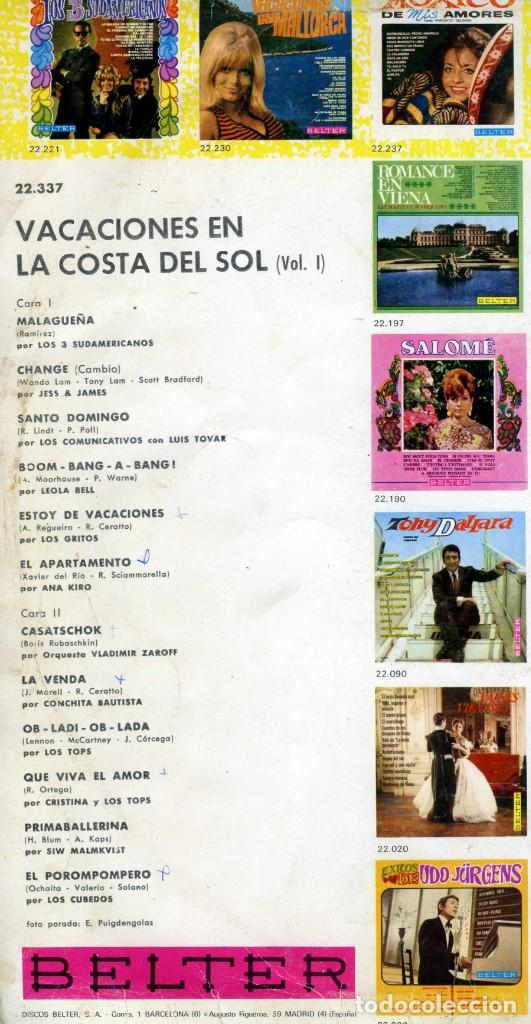 Discos de vinilo: SU PER SUPER + VACACIONES COSTA DEL SOL + VACACIONES EN ESPAÑA. - Foto 3 - 162069134