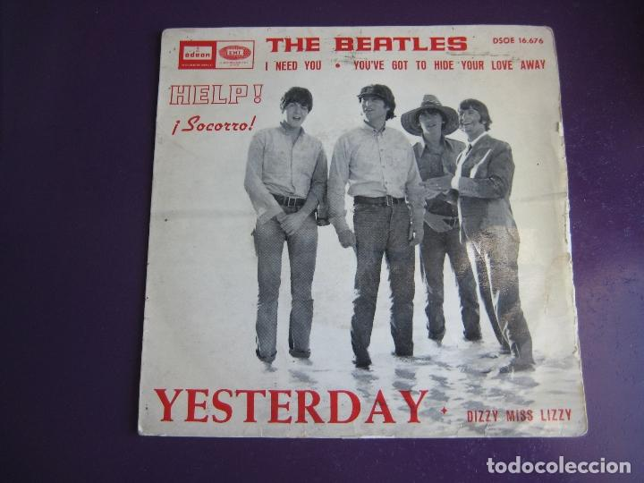 Discos de vinilo: THE BEATLES EP EMI ODEON 1965 yesterday/ i need you +2 - Foto 1 - 162133574