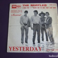 Discos de vinilo: THE BEATLES EP EMI ODEON 1965 YESTERDAY/ I NEED YOU +2 . Lote 162133574